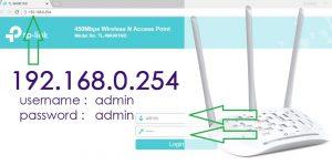 192.168.0.254 Admin Login